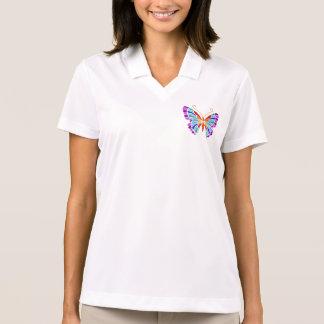 Camiseta de la mariposa del arco iris