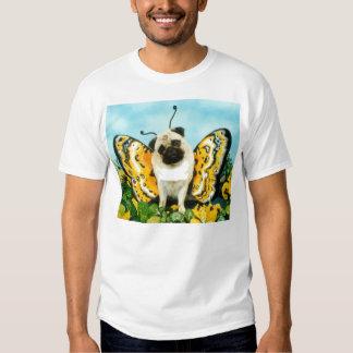 Camiseta de la mariposa del perro del barro playeras
