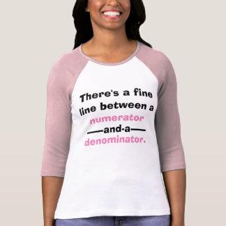 Camiseta de la matemáticas de las fracciones