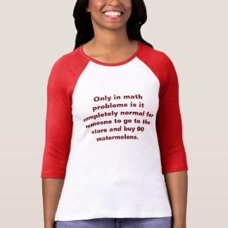 Camiseta de la matemáticas de las sandías