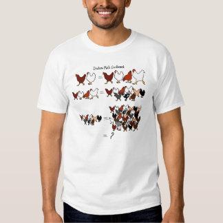 Camiseta de la matemáticas del pollo poleras