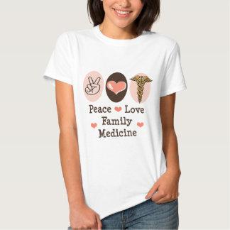 Camiseta de la medicina de familia del amor de la playera