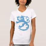 Camiseta de la Micro-Fibra de las mujeres del león