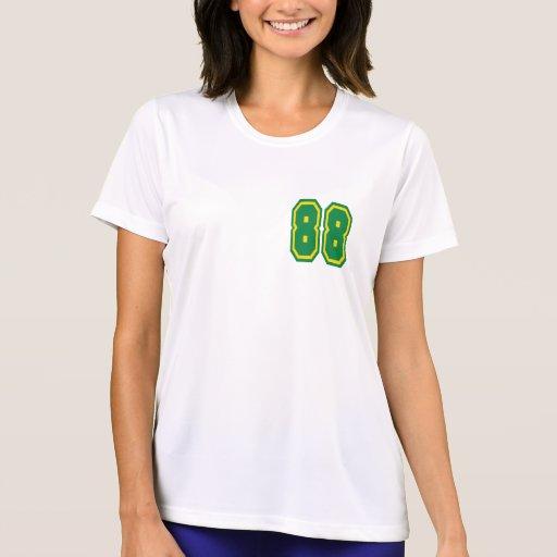 Camiseta de la microfibra de las señoras (blanca)