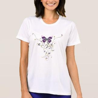 Camiseta de la microfibra de las señoras del