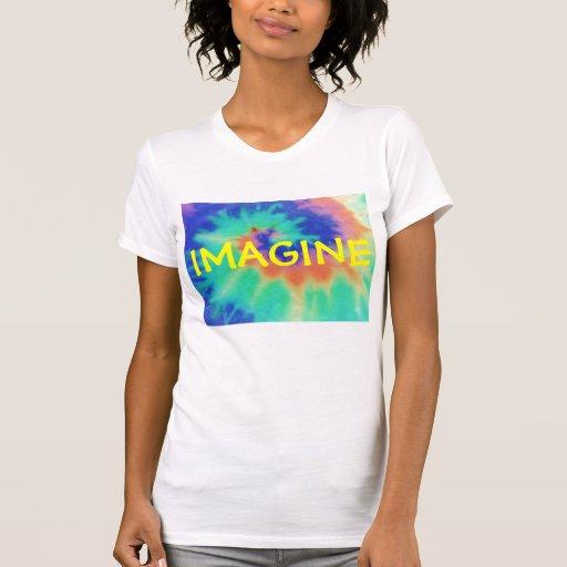 Camiseta de la mirada del tinte del Imaginar-Lazo