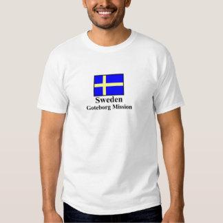 Camiseta de la misión de Suecia Goteborg Playeras