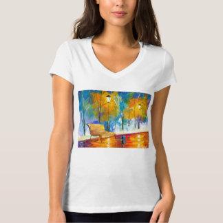 Camiseta de la moda con arte del parque de playera
