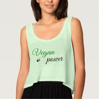 Camiseta de la moda del poder del vegano playera de tirantes holgada