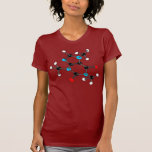 Camiseta de la molécula del cafeína polera