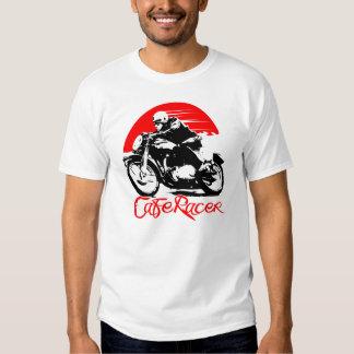 Camiseta de la motocicleta del corredor del café remeras