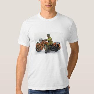 Camiseta de la motocicleta del juguete del vintage polera