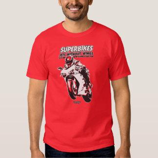 Camiseta de la motocicleta - Superbikes Playeras
