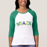 Camiseta de la muestra del Brasil
