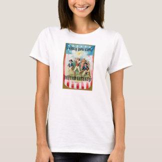 Camiseta de la muñeca de las señoras (cabida) con