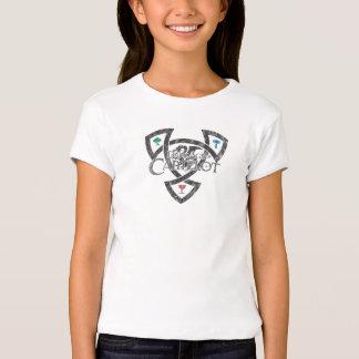 Camiseta de la muñeca de los chicas del nudo de