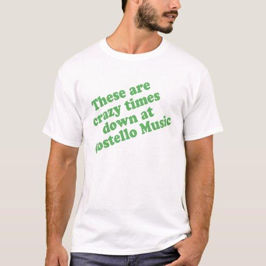 Camiseta de la música de Costello