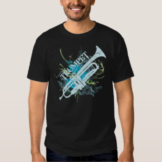 Camiseta de la música del Grunge de la trompeta Playera
