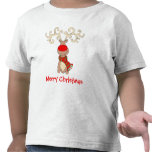 Camiseta de la nieve del niño con la nariz roja de