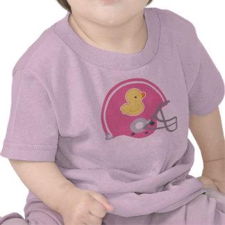 Camiseta de la niña del casco de fútbol americano