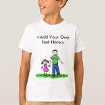 Camiseta de la niña del papá (Brunette) Playera