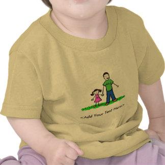 Camiseta de la niña del papá (Brunette)