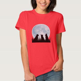 Camiseta de la noche de tres perros poleras