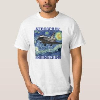 Camiseta de la noche estrellada de la ingeniería playeras