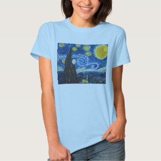 Camiseta de la noche estrellada polera