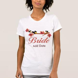 Camiseta de la novia de la caída