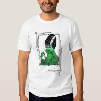 Camiseta de la novia del art déco polera