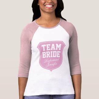 Camiseta de la novia del equipo para el fiesta nup playeras
