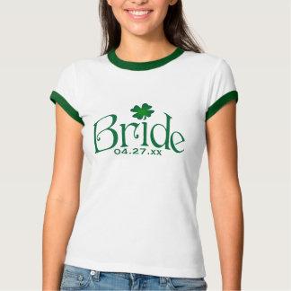 Camiseta de la novia del trébol del verde remeras