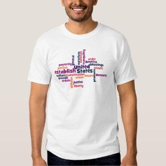 Camiseta de la nube de la palabra de la constituci playera