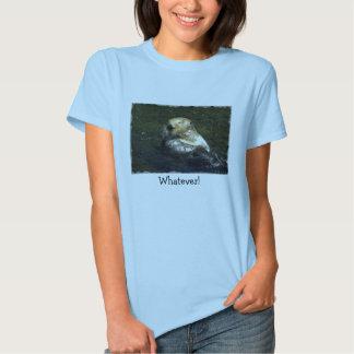 Camiseta de la nutria de mar poleras