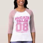 Camiseta de la obra clásica de McCAIN PALIN 08 del Polera