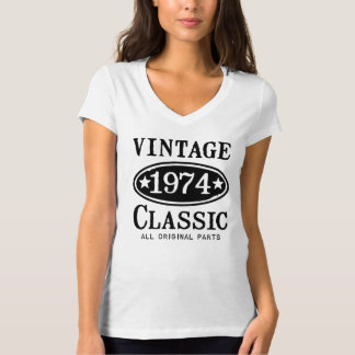 Camiseta de la obra clásica del vintage 1974 polera