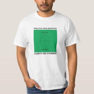 """Camiseta de la """"odontología segura"""" polera"""