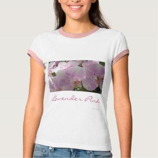"""""""Camiseta de la orquídea rosada de la lavanda"""" Playeras"""
