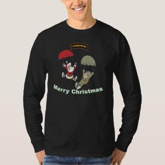 Camiseta de la oscuridad de Airbone Santa II Playera