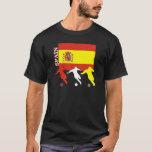 Camiseta de la oscuridad de España del fútbol