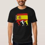 Camiseta de la oscuridad de España del fútbol Poleras