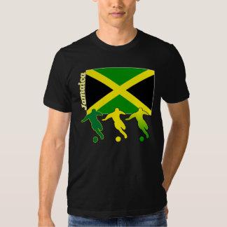 Camiseta de la oscuridad de Jamaica del fútbol Playeras