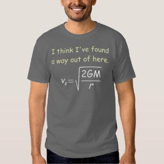 Camiseta de la oscuridad de la velocidad de escape poleras