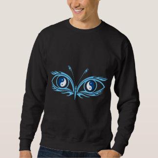 Camiseta de la oscuridad de los ojos de Yin Yang Sudadera Con Capucha