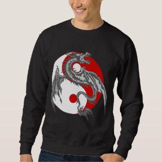 Camiseta de la oscuridad de Yin Yang del dragón Sudadera Con Capucha