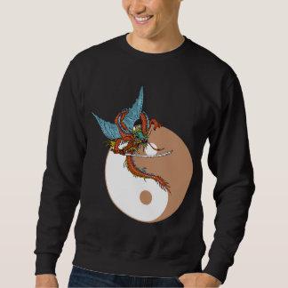 Camiseta de la oscuridad de Yin Yang del dragón Suéter