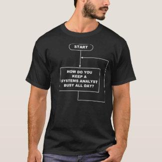Camiseta de la oscuridad del analista de sistemas