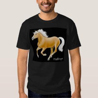 Camiseta de la oscuridad del caballo de Haflinger Poleras