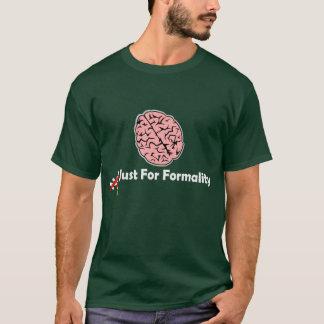 Camiseta de la oscuridad del cerebro de la